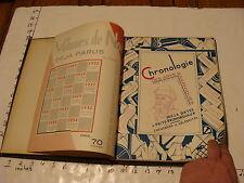 vintage book: REME BILLOUX--1935 Chronologie Des Arts Graphiques BOUND, AMAZING