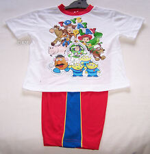 Disney Pixar Toy Story Gang Boys White Red Printed Pyjama Set Size 5 New