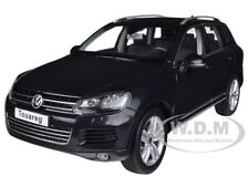 2010 VOLKSWAGEN TOUAREG V6 TSI BLACK 1/18 DIECAST MODEL CAR BY KYOSHO 08822 DBK