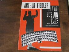 Arthur Fielder and The Boston Pops Tour Orchestra Program Columbia Artists