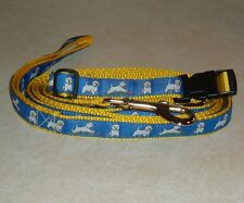 WESTIE COLLAR&LEASH SET YELLOW PLAYFUL FREE SHIP USA