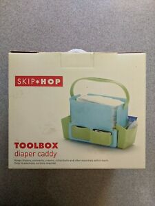 Skip Hop Toolbox Diaper Caddy, Organizer for baby items - Sky Blue - New