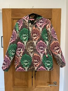 Gorgeous Womens Manoush Floral Print Quilted Bomber Jacket Size 36
