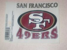 San Francisco 49ers NFL Football Reusable Static Cling Window Decal Sticker