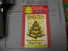 HERO ARTS POLY CLEAR 4X6 JOY OF THE CHRISTMAS TREE 3 STAMPS #CL561 NEW A1187