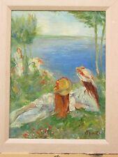 Vintage Hand Embellished Giclee Renoir Study #4 by Fransesco Agresti Listed