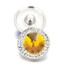 YELLOW STONE Snap Chunk 18-20mm Interchangeable Jewelry Fits Ginger Snaps