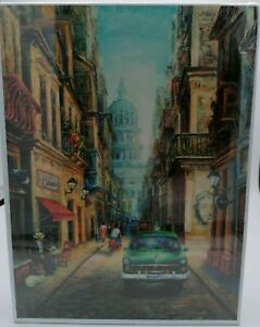 """1000 piece Puzzle Havana Evening mouth and foot painting artist 19.3"""" x 27"""" NEW"""