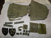 Lot of vintage Military Patches and Bags Free Shipping