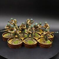 Painted 28mm Bolt Action ww2 us infantry ×10 Perry miniatures