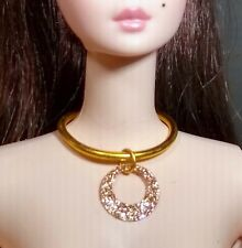 Dreamz Mod Gold Sparkle Hoop Choker Necklace Jewelry For Barbie