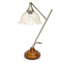 Tischleuchte in Blumenform Schreibtischlampe Blume mit Glaslampenschirm Klassik