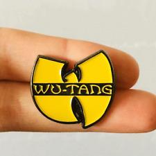 hip hop Enamel Brooch Jewelry Gift Music Pin Wu Tang pin yellow Logo old school