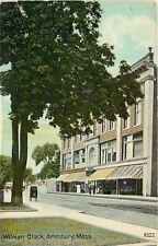 Amesbury Massachusetts~Mail Dropbox~Drugstore on Wilman Block~1910 Postcard