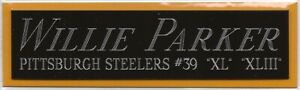 WILLIE PARKER NAMEPLATE FOR AUTOGRAPHED SIGNED FOOTBALL HELMET JERSEY PHOTO CASE