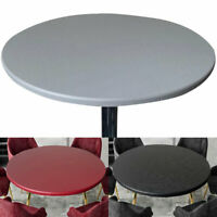 Elastic Round Tablecloth Waterproof Oil-proof Home Party Catering Table Covers