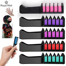 6pcs Temporary Hair Chalk Hair Color Comb Dye Salon Kits Party Fans Cosplay UK