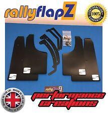 Mudflaps SEAT IBIZA Mk4 2.0 TDI FR (08 on) x4 rallyflapZ Black 'S' White 4mm PVC
