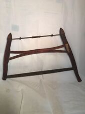 Antique Old Henry Disston & Sons Carpentry Dark Brown Wood Bucksaw Country Decor