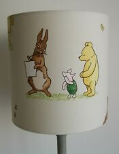 Winnie the Pooh and Friends  -Handmade Nursery table Lampshade 20cm Drum