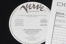 Jean-luc ponty-Live From Montreux LP 1972 verve promo ARCHIVE-Copy MINT