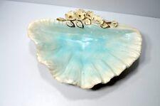 Vintage Norcrest Nautical Sea Floral Iridescent Conch Shell Planter Bowl Japan