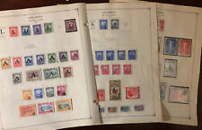 1949-1955 Colombia Airmail Stamps 6 on Scott Album Page - Well Filled