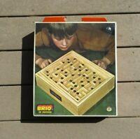 Vintage Brio Sweden Labyrinth Wooden Tilting Maze Game Original Box Swedish 3180
