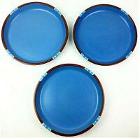 Dansk Mesa Sky Blue Dinner Plate Lot 3 Portugal Discontinued Microwave Safe