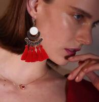 Bohemian Handmade Tassel Earrings Women Vintage Bronze Earrings Jewelry Gift