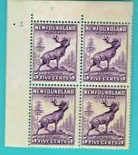 Newfoundland 191 outer plate reversed # 2 corner block stamps F/VF NH