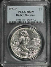 1999-P Dolley Madison Silver Dollar Commemorative PCGS MS-69