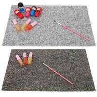 Pro Manicure Mat Reusable Table Pad with Rhinestone Nail Art Beauty Accessory