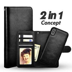 Echt Leder Handy Hülle Wallet Tasche Case Etui Cover für iPhone 6s u.a.