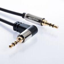 1m AUX Kabel 3,5mm Klinke-Stecker Winkel Stereo | für Handy MP3 iPhone TV PC Box