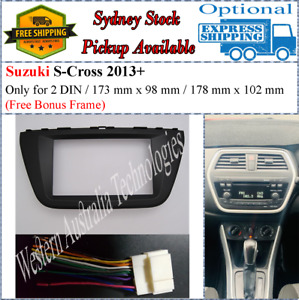 Harness + Fascia facia Fits Suzuki SX4 S Cross 2013+ Double Two 2 DIN Dash Kit*