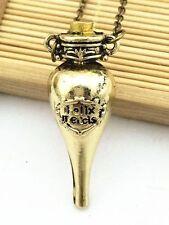 USA- Bronze Harry Potter Ron Felix Felicis Liquid Luck Potion Bottle  Necklace