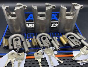 Sargent & Greenleaf Padlock 831-B/R US Military High Security, New Core 3 Keys!