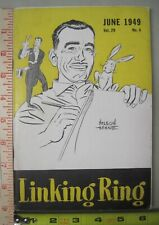 Linking Ring Vol. 29 #4 June 1949 Digest Size Magic Magazine Nelson Hahne