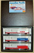 N MTL 993 00 096 Runner 3-Pk Canadian Pacific COFC Flat Cars w/ Container