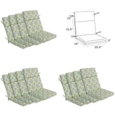Patio Wicker Sofa High Back Chair Cushion Set of 4 for Indoor and Outdoor Use US