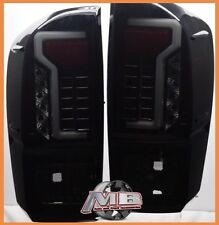 for 16 17 18 Toyota Tacoma TRD SR SR5 Fiber Optic LED Tail Lights Black Smoked
