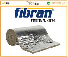 FIBRAN LANA DI ROCCIA 1x1 mt FELTRO SP. 3 LAMELLARE PER ISOLAMENTO CANNE FUMARIE