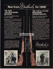 1968 WEATHERBY Rifle Magnum, Varmintmaster Vtg Print Ad