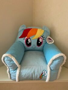 My Little Pony Kids Plush Sofa Figural Bean Bag Chair With Sherpa Trimming USA
