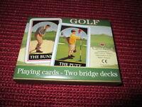 Schöne Spielkarten für den Golf Fan The Putt The Bunker Rommekarten unbespielt