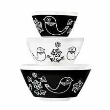 Pyrex Vintage Charm Birds of a Feather 3 Piece Mixing Bowl Set, inspired by