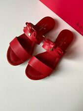 Kate Spade New York Red Leather Bow Slide Size 7 US
