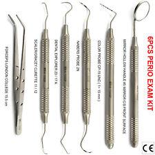 X6 Dental Hygienist BPE Periodontal CP-15 Nabers Probes Universal Gracey Curette