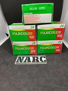5 x Fujicolor 100 24 Exp 35mm  expired film job lot